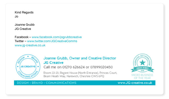 design and branding agency email signature