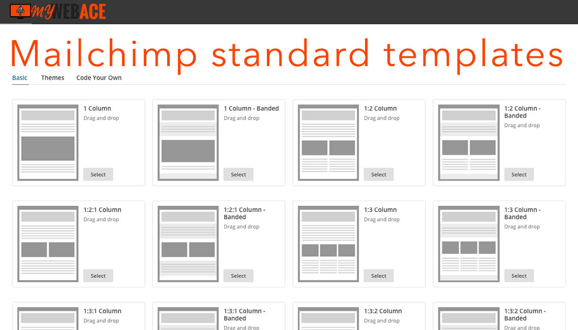 Mailchimp standard templates