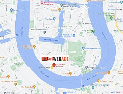 Mywebace Location on map