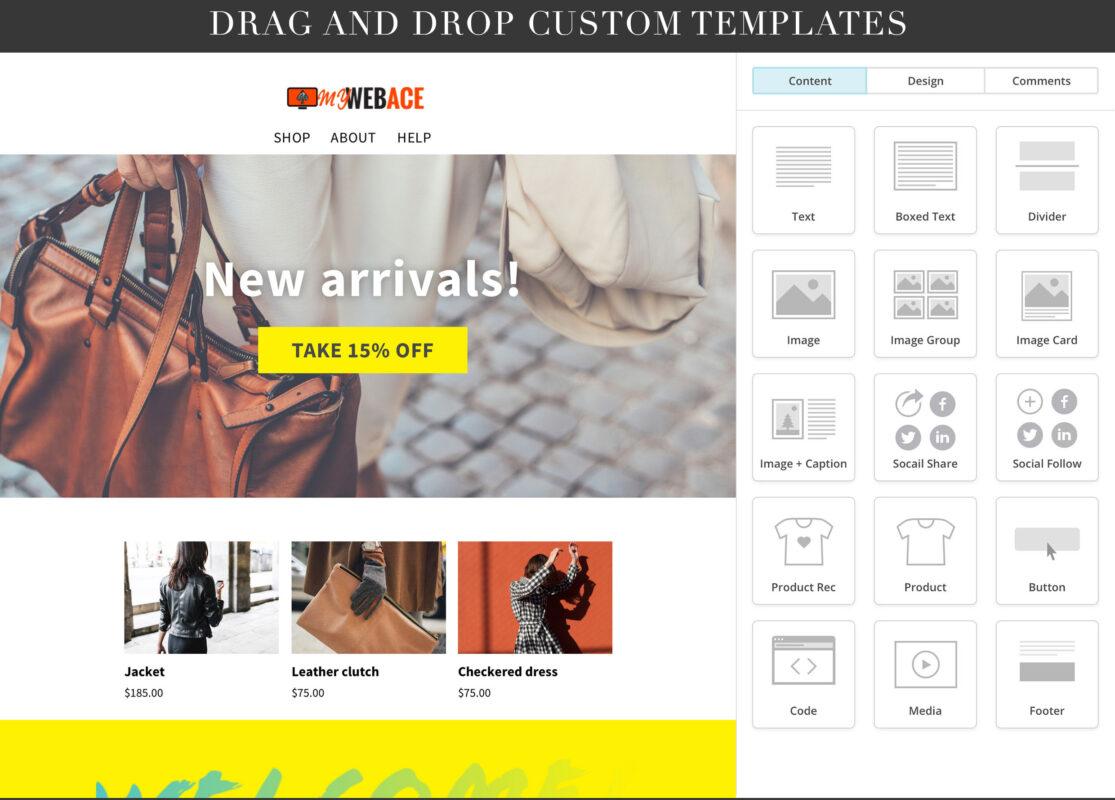 Mailchimp drag and drop custom templates